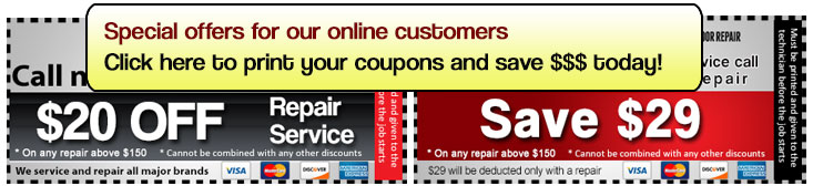 Our service coupon